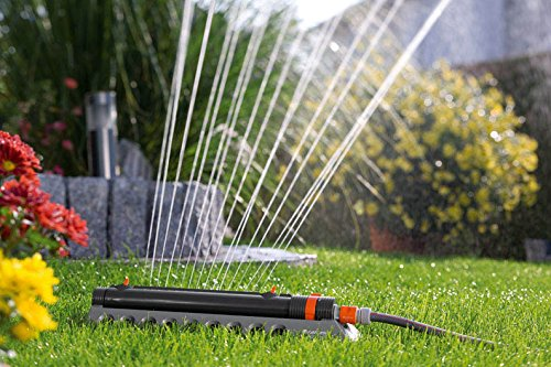 Filtro Removibile Gardena 1973-20 Comfort Aquazoom 250//2 Irrigatore Oscillante per Piccole Superfici Rettangolari da 25 a 250 m/²