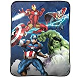 Marvel Avengers Blue Circle Fleece Plush Throw
