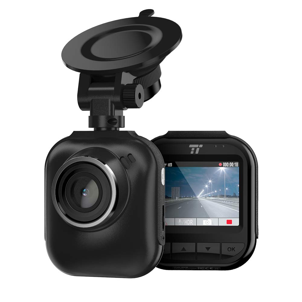 TaoTronics 2K QHD Dash Cam, 2″ LCD Screen Car Dashboard Camera with Night Version, 160° Wide Angle Lens, G-Sensor, Parking Mode, and Emergency Recording