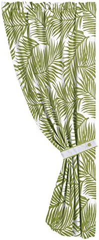 HiEnd Accents Capri Fern Coastal Curtain, 48 by 84 , Green