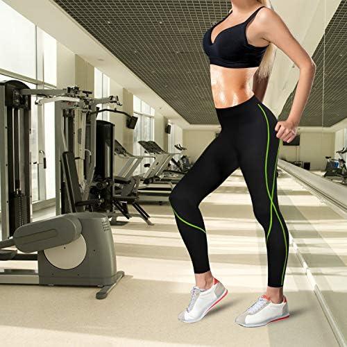 Rolewpy Women Neoprene Sauna Slimming Pants Hot Thermo Sweat Body Shaper Capri for Leggings 4