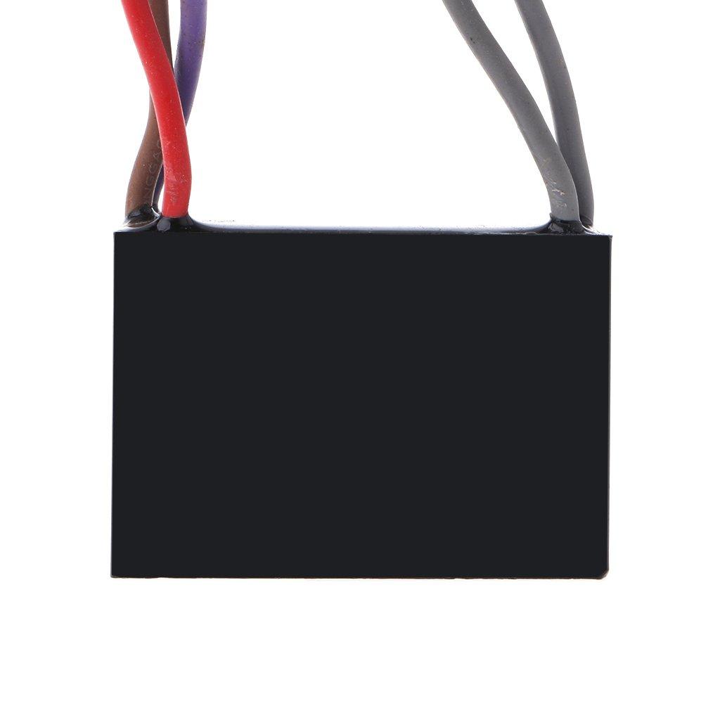 JimTw-DE CBB61 Electrical Power Relay Connecting Kondensator 4.5uf 5uf 250V 5 Draht 6uf