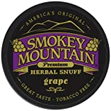 Smokey Mountain Snuff, 5-1 oz Cans - Grape - Tobacco Free, Nicotine Free