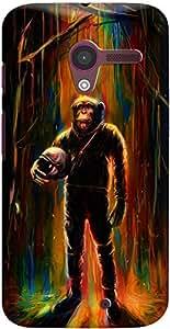 DailyObjects Commander Chimp Case For Motorola Moto X