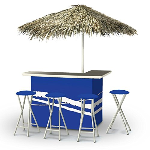 Best of Times Portable Deluxe Bar; Classic Blue - Palapa
