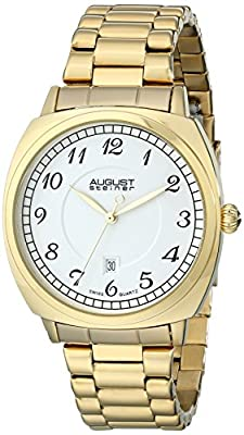 August Steiner Men's AS8160 Swiss Quartz Watch Stainless Steal Bracelet