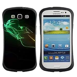 Paccase / Suave TPU GEL Caso Carcasa de Protección Funda para - Design Minimalist Colors - Samsung Galaxy S3 I9300