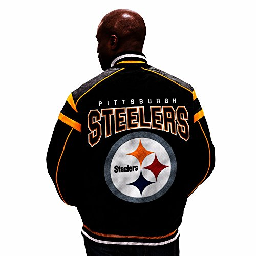 G-III Sports Pittsburgh Steelers Leather Legend Suede (Pittsburgh Steelers Mens Jackets)