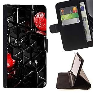 Momo Phone Case / Flip Funda de Cuero Case Cover - Extracto de la red - HTC One M7