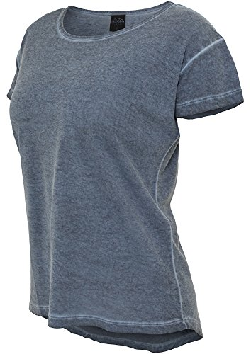 shirt T Tee Donna Urban Spray Dye Classics denimblue Long Blu Ladies Da z5SSEc