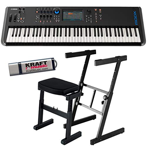 Yamaha MODX7 Synthesizer with Headphones, Z-Frame Stand, Z-Frame Bench and Flash Drive