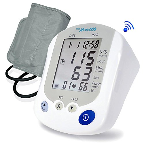 Upgraded 2017 Blood Pressure Monitor For Adults and Kids, Arm Band, 1 Touch Feature Electric Meter Measure Pulse Rate, Diastolic Systolic Pressure W/ Wifi Phone App To Keep Track of Your Health
