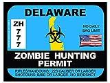 Delaware Zombie Hunting Permit(Bumper Sticker)