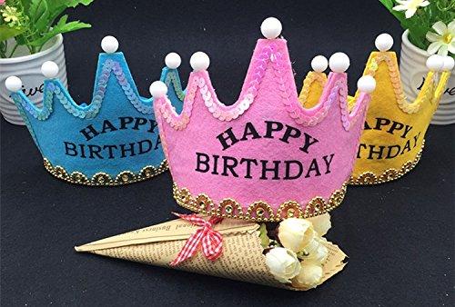 MiuMiu 5 LED luz corona sombrero de cumpleaños niños fiesta ...