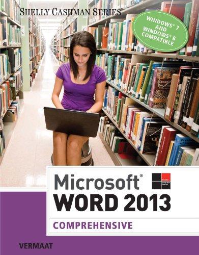 Microsoft Word 2013: Comprehensive (Shelly Cashman) Pdf