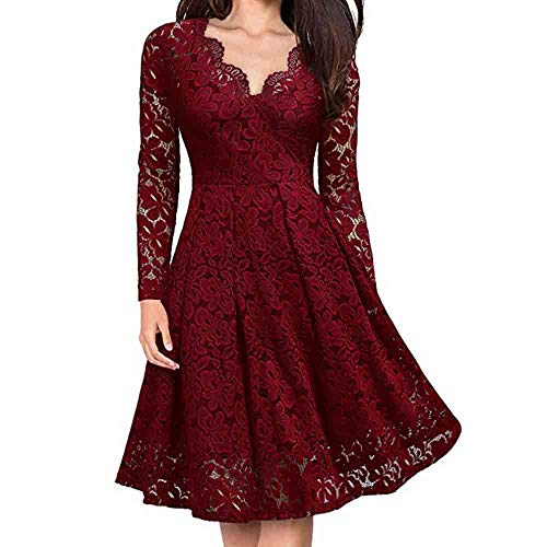 gant Sexy Lace Cutout V-Neck Strapless Long Sleeve Dress ()