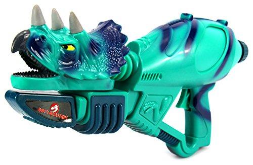 Jurassic Dino-Blasters 'Triceratops' Pump Children's Toy Water Gun, Super Blaster Soaker (Colors May (Toy Pink Pump Action Shotgun)