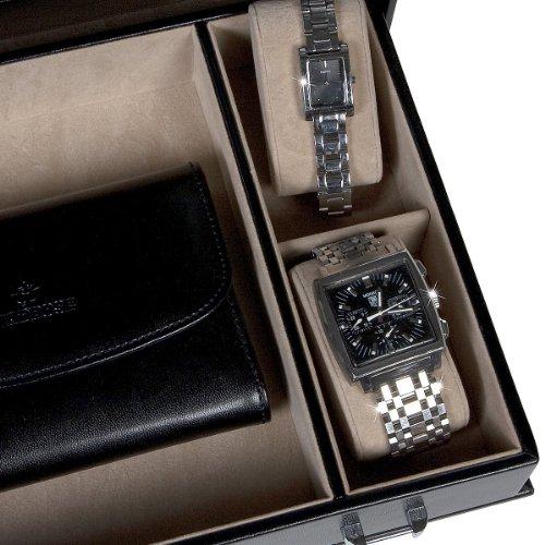 Windrose Merino Schmuck- / Uhrenkoffer 0 rot - 8