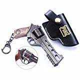 games Eat Chicken 4.1'' metal R45 Revolver Gun Model Figure Arts Toys Collection Keychains Gift within Holster