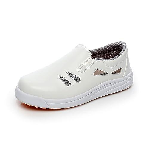 magasin en ligne 219d7 b7619 Levoberg Chaussure de Cuisine Protection d'eau d'huile Chaussure de Travail  Respirante Homme Femme