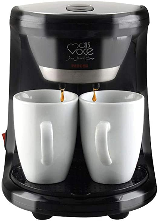 Mini Filtro Máquina De Café con Taza 450W 2 Tazas De Café De Goteo Cafetera Eléctrica Automática Espresso Máquina De Café para El Hogar Cafe: Amazon.es: Hogar