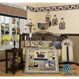 GEENNY Boutique 13 Piece Crib Bedding Set, Baby Boy Constructor