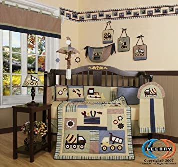 geenny boutique 13 piece crib bedding set baby boy constructor