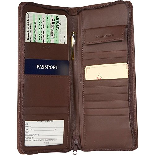 Royce Leather Expanded All Nappa Cowhide Document Case - Coco