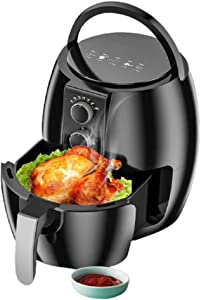 Izzya Smart Electric Fryer, No Oily Smoke Multifunction French Fries Machine Home Fully Automatic High Capacity Air Fryer, 1350W High Power, Good Heat Resistance