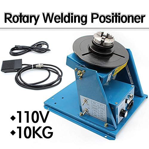 """TFCFL 2.5"""" 3 Jaw Rotary Welding Positioner Turntable Table Lathe Chuck 2-18 r/min 110V 370 270 215mm (US Warehouses)"""