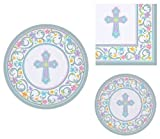 Inspirational Religious Party Supplies for 18 People: Dinner Plates Dessert Plates and Luncheon Napkins 72 Piece Bundle