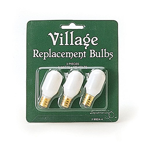 Department 56 Village Replacement Light Bulb Set of 6 - Xmas Light Bulbs