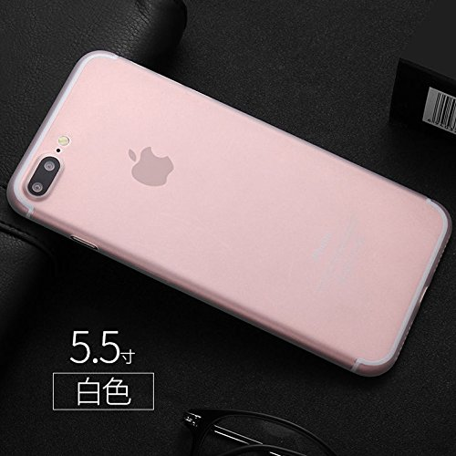 Ultra-Thin Slim 0.3-0.5mm Matte Semi Transparent PP Protect Phone Case Cover back Skin for Apple iPhone (Clear for iPhone 8 7 Plus - Transparent Case Matte