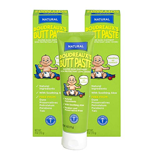 Boudreaux's Butt Paste Diaper Rash Ointment, With Natural Aloe, 4 Oz, Pack of 2