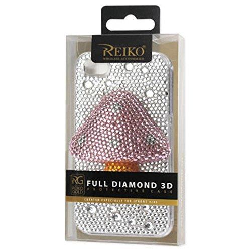 Reiko 3dcpc-iphone 4Muspk 3d Diamant Coque de protection pour iPhone 4S–Rose
