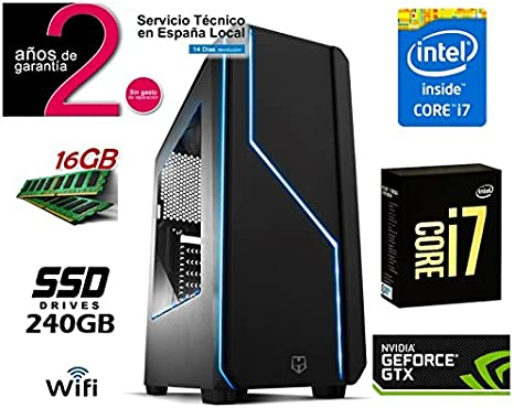 PC Ordenador SOBREMESA Gaming Intel Core i7 | 16GB RAM | SSD 240GB ...