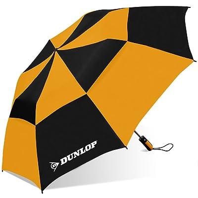 Dunlop Double Canopy Two-Person Umbrella-56dc-dl Blkor, Black/Orange