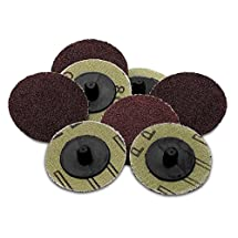 50 Pieces - 2 inch 36 Grit Roll Lock Sanding/Grinding Discs -For Use With Drill/Die Grinder; For Any Surface Prep Or Finishing Job - By Katzco