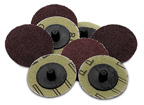 (50 Pieces -2 inch 80 Grit Roll Lock Sanding/Grinding Discs - 50 Pieces - For Use With Drill/Die Grinder; For Any Surface Prep Or Finishing Job - By Katzco)