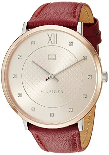 Tommy Hilfiger Women's Sophisticated Sport Quartz Watch with Leather Strap, Brown, 20 (Model: 1781810
