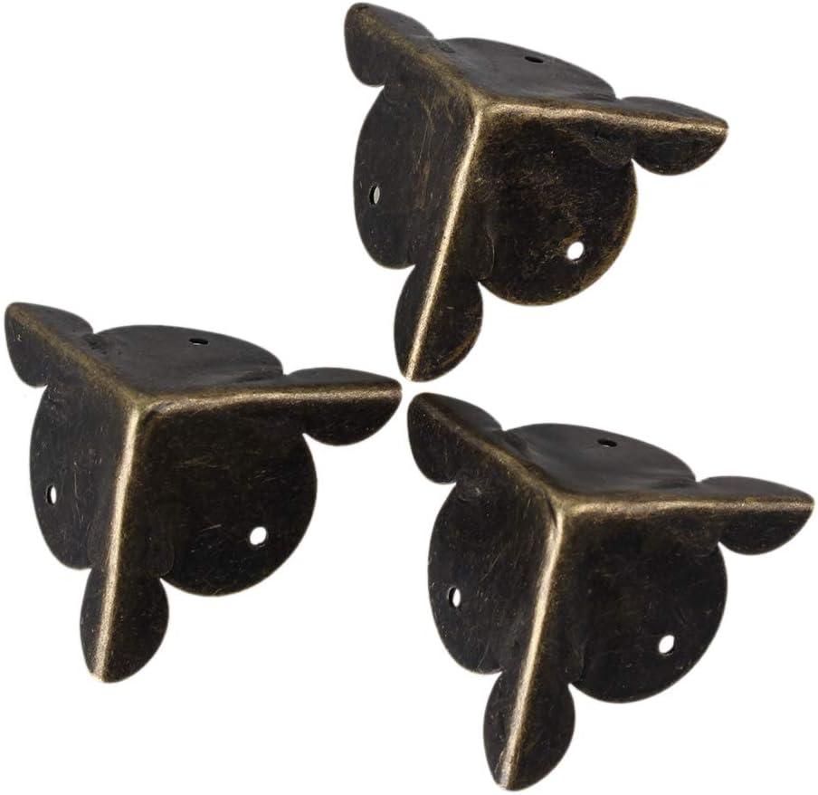 Eckschutz 30 x 30 mm Yibuy Holzkasten bronzefarben