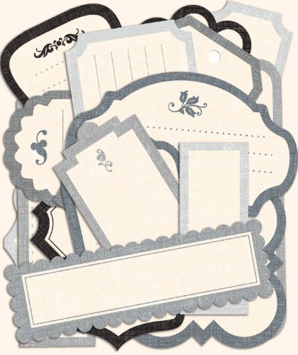 K&Company Basic Die-Cut Labels Black