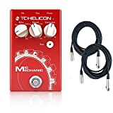 TC-Helicon Mic Mechanic 2 Vocal Effects Pedal Bundle with XLR cables
