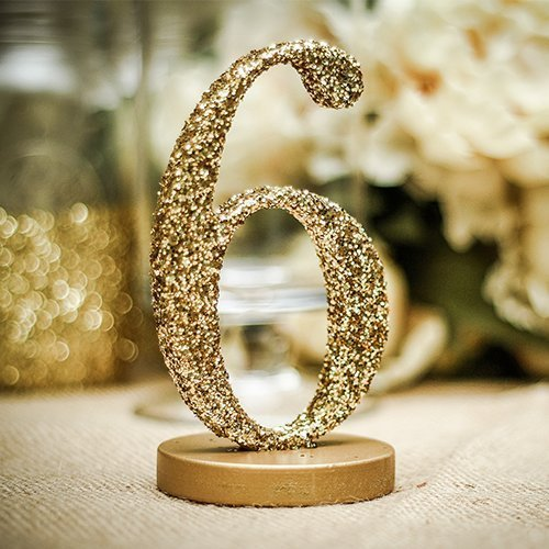 Glitter Wedding Table Numbers SET OF 1-20 Freestanding Table Numbers for Weddings Party or Events, Table Decor for Wedding by Z Create Design