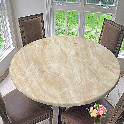 (PINAFORE HOME Elasticized Table Cover Natural Marbles Texture and Surface Background Machine Washable 43.5