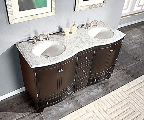 Silkroad Exclusive Bathroom Vanity HYP-0703-WM-UWC-60 Naomi 60''