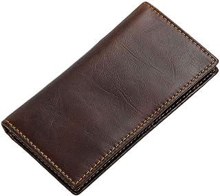 LMSHM Portefeuille Long pour Homme Portefeuille Homme en Cuir Porte-Cartes D'Identité Bifold Porte-Monnaie Longue Embrayage RFID,A,14 * 7.6Cm