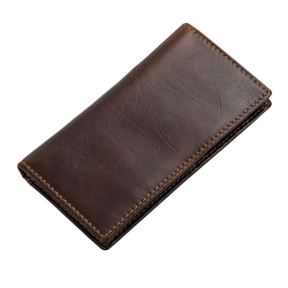 LMSHM Portefeuille Long pour Homme Portefeuille Homme en Cuir Porte-Cartes D\'Identité Bifold Porte-Monnaie Longue Embrayage RFID,A,14 * 7.6Cm
