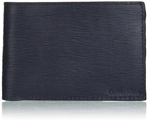 Calvin Klein Men's Textured Slimfold, Ink, One Size