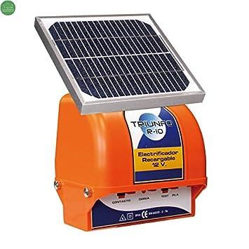 Pastor Triunfo R-10 con placa solar 3W y batería 12 v. Para perros y gatos: Amazon.es: Jardín